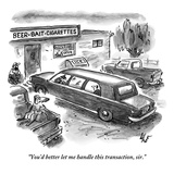"""""""You'd better let me handle this transaction  sir"""" - New Yorker Cartoon"""