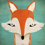 Fox Reproduction d'art par Ryan Fowler