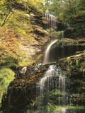 View of Cathedral Falls in Autumn  West Virginia  USA