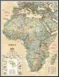 National Geographic Africa Map  Executive Style