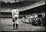 Babe Ruth Retirement New York Yankees Archival Photo Sports Poster