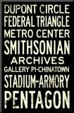 Washington DC Metro Stations Vintage RetroMetro Travel Poster