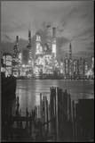 New York City at Night Skyline Art Print Poster