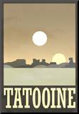 Tatooine Travel Poster Reproduction montée