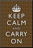 Keep Calm and Carry On Leopard Print Poster