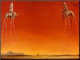 Les éléphants, 1948 Reproduction montée par Salvador Dalí