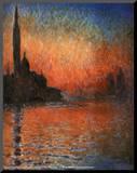 Claude Monet (Sunset in Venice) Art Poster Print