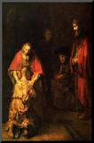 Rembrandt Harmensz van Rijn (Return of the Prodigal Son) Art Poster Print