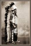 Chief White Cloud (Native American Wisdom) Art Poster Print
