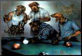 Dan McManis Dogs Playing Pool Art Print Poster