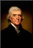 Thomas Jefferson Portrait Historic Art Print Poster