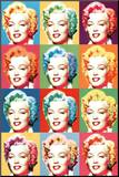 Visions of Marilyn Monroe Pop Art Print Poster