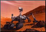 NASA Mars Curiosity Rover Spacecraft Poster