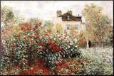 Claude Monet The Artist's Garden Art Print Poster