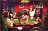 Chiens jouant au poker Reproduction montée