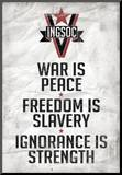 1984 INGSOC Big Brother Political Slogans Poster