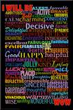 I Will Be (Motivational List) Art Poster Print