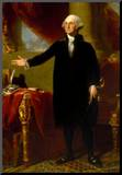 President George Washington Standing Historical Art Print Poster