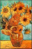 Vincent Van Gogh Vase with Twelve Sunflowers Art Print Poster