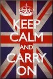 Keep Calm and Carry On (Motivational  Union Jack Flag)