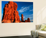 Sandstone Rock Formations at Arches National Park  Utah  USA