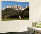Geisler Mountains  Valley Villnoess  Church St John in Ranui  Puez-Geisler  Italy