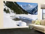 Winter  Valley Krimmler Achental  Hohe Tauern  Mt Dreiherrnspitze  Austria