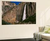 View of Upper Yosemite Falls and Rainbow  Yosemite National Park  California  USA