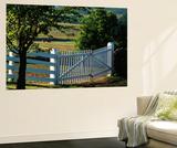 Pleasant Hill  White Shaker Fence  Kentucky  USA