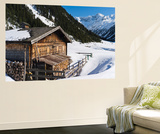 Wooden Mountain Hut  Valley Krimmler Achental  Hohe Tauern National Park  Austria