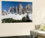 Geisler Mountains  Valley Villnoess  Dolomites  South Tyrol  Italy