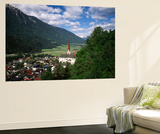 View of Town  Churches and Houses  Oetz  Tyrol  Austria