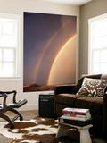 Double Rainbow over Landscape  Idaho  USA