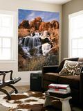 View of Frozen Waterfall of Mill Creek  Spanish Valley  Utah  USA