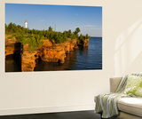 Sandstone Cliffs  Sea Caves  Devils Island  Apostle Islands Lakeshore  Wisconsin  USA