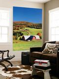 Barnet  View of Farm in Autumn  Northeast Kingdom  Vermont  USA