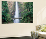 Bridge  Multnomah Falls  Columbia Gorge  Oregon  USA