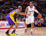 Los Angeles  CA - January 4: Chris Paul and Kobe Bryant