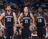 Oklahoma City  OK - May 15: Marc Gasol  Tayshaun Prince and Zach Randolph