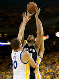 Oakland  CA - May 16: Tim Duncan and David Lee