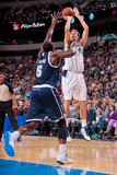 Dallas  TX - January 18: Dirk Nowitzki and Kendrick Perkins