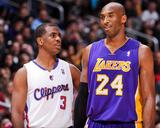 Los Angeles  CA - January 4: Chris Paul and Kobe Bryant