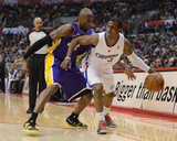 Los Angeles  CA - January 04: Chris Paul and Kobe Bryant