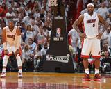 Miami  FL - May 15: Dwyane Wade and LeBron James