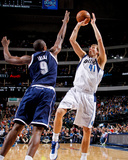 Dallas  TX - January 18: Dirk Nowitzki and Serge Ibaka