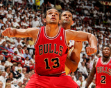 Miami  FL - May 15: Joakim Noah and Shane Battier