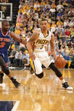 Indianapolis  IN - May 14: George Hill and Raymond Felton