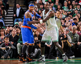 Boston  MA - January 24: Kevin Garnett and Carmelo Anthony