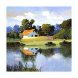 Barns on Greenbrier II Giclée par Max Hayslette
