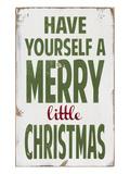 Passez un joyeux Noël Giclée par Barn Owl Primitives